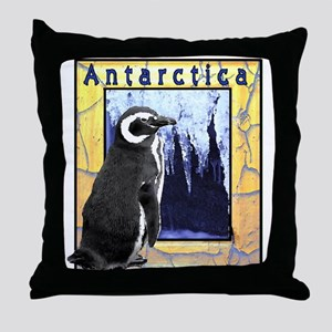 Antarctica Penguin Throw Pillow