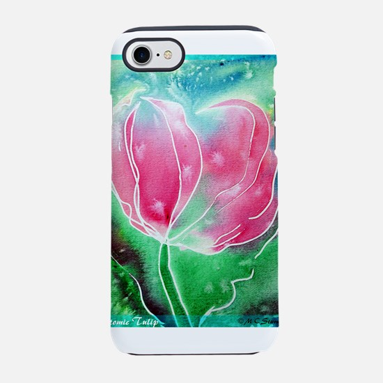 Tulip! Pink flower art! iPhone 7 Tough Case