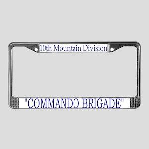 10th Mount Div 2BCT License Plate Frame