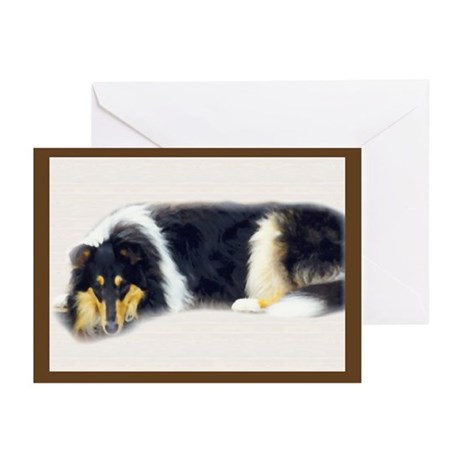 Tri Rough Collie Greeting Cards (Pk of 10)