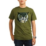 Owl, Henry II Organic Men's T-Shirt (dark)