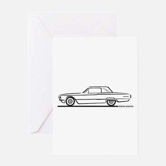 1966 Ford Thunderbird Landau Greeting Card