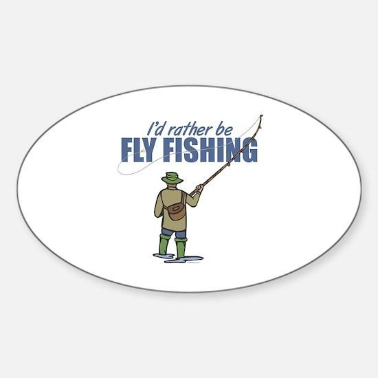 Fly Fishing Sticker (Oval)