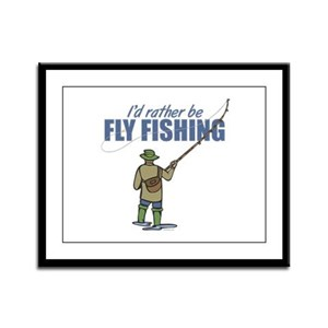 Fly Fishing Framed Panel Print