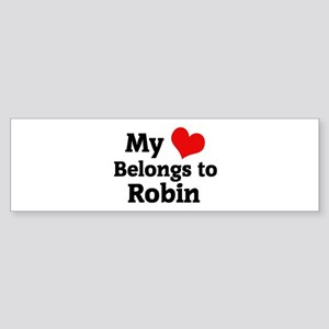 My Heart: Robin Bumper Sticker