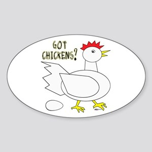 Got Chickens? Oval Sticker