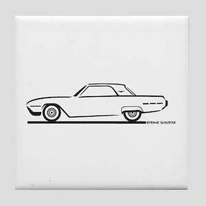 1962 Ford Thunderbird Hardtop Tile Coaster