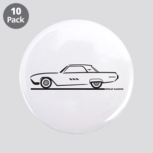 "1963 Ford Thunderbird Hardtop 3.5"" Button (10 pack"