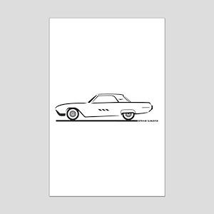 1963 Ford Thunderbird Hardtop Mini Poster Print