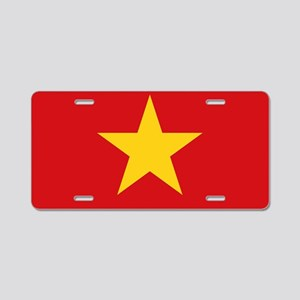 Vietnam Flag Aluminum License Plate