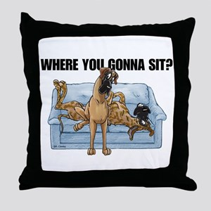NBrNF Where RU Throw Pillow