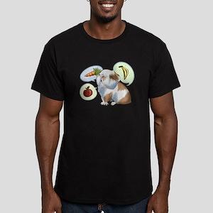 Wheeek, wheeeeek Men's Fitted T-Shirt (dark)