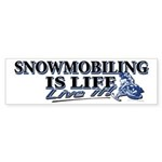 Snowboarding is life live i Sticker (Bumper 10 pk)