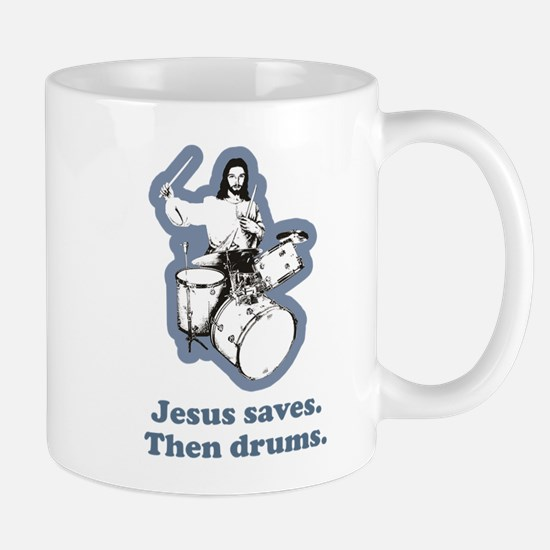 Jesus Drummer Saves Drums Mug