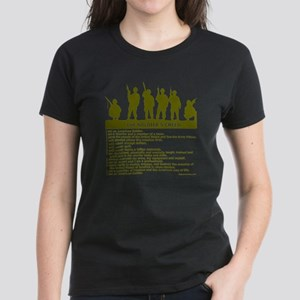 SOLDIER'S CREED Women's Dark T-Shirt