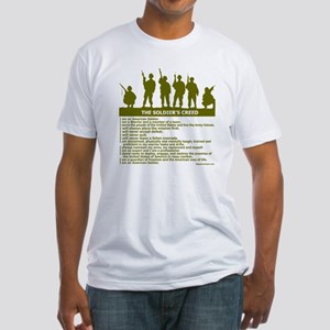 SOLDIER'S CREED Fitted T-Shirt
