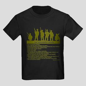 SOLDIER'S CREED Kids Dark T-Shirt