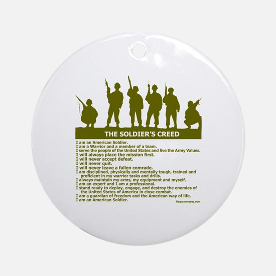 SOLDIER'S CREED Ornament (Round)