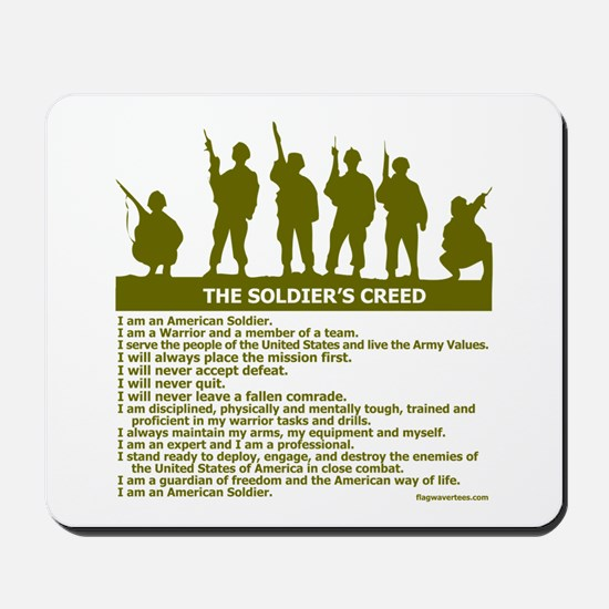 SOLDIER'S CREED Mousepad