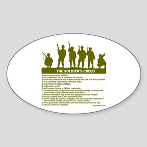 SOLDIER'S CREED Oval Sticker