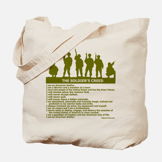 SOLDIER'S CREED Tote Bag