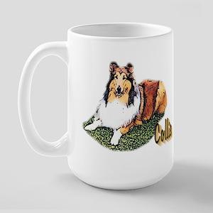 Rough Collie Gifts Large Mug
