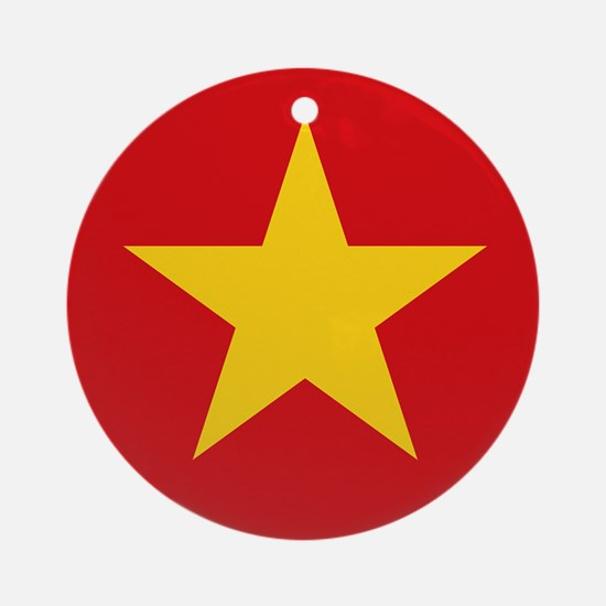 Vietnam Flag Round Ornament