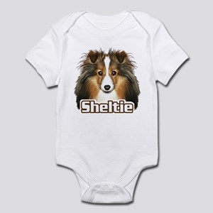 Sheltie Face - Color Infant Bodysuit