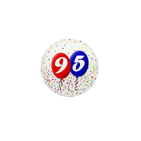 95th Birthday Mini Button (10 pack)
