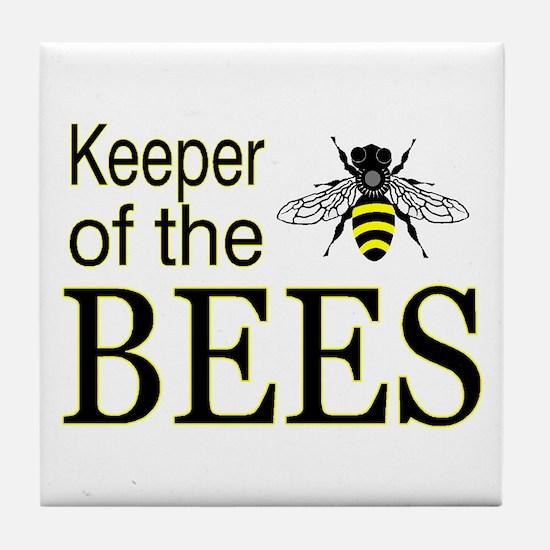 keeping bees Tile Coaster