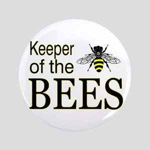"keeping bees 3.5"" Button"