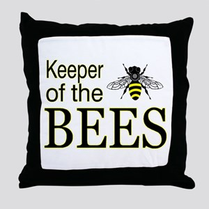 keeping bees Throw Pillow