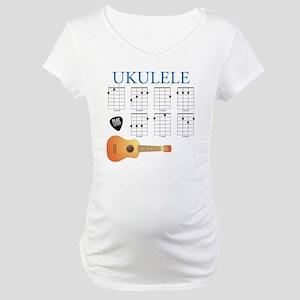 Ukulele 7 Chords Maternity T-Shirt