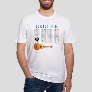 Ukulele 7 Chords Fitted T-Shirt