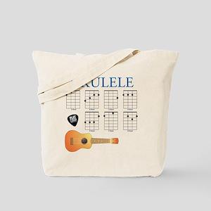 Ukulele 7 Chords Tote Bag