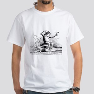 Frog with cocktail White T-Shirt