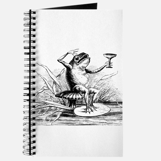 Frog with cocktail Journal