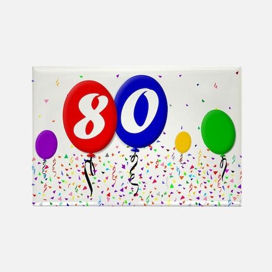 80th Birthday Rectangle Magnet