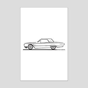 1965 Ford Thunderbird Hardtop Mini Poster Print