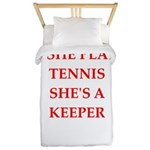 Tennis joke Twin Duvet Cover