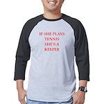 Tennis joke Mens Baseball Tee