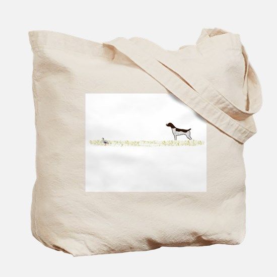 Liver Tick GSP on Chukar Tote Bag