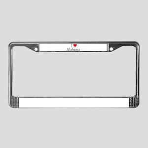 I Heart Alabama License Plate Frame