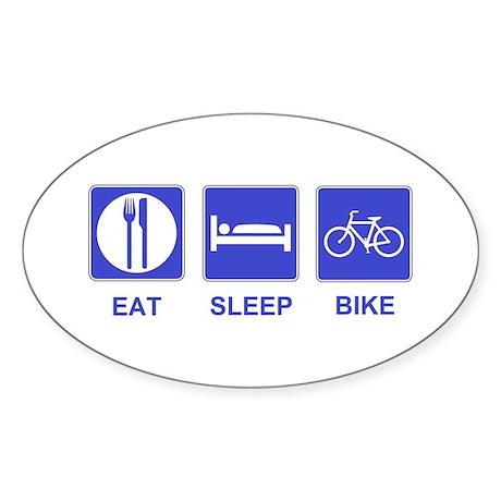 Eat Sleep Ride Oval Sticker (10 pk)