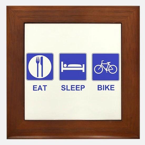 Eat Sleep Ride Framed Tile
