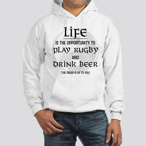 Rugby and Beer Hooded Sweatshirt