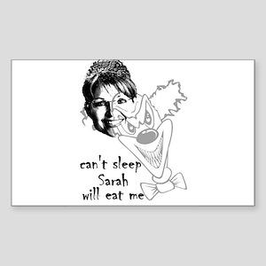 can't sleep! Rectangle Sticker