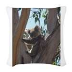 Kaola in Tree Woven Throw Pillow