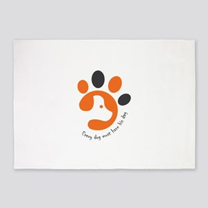 Every dog must have his day 5'x7'Area Rug