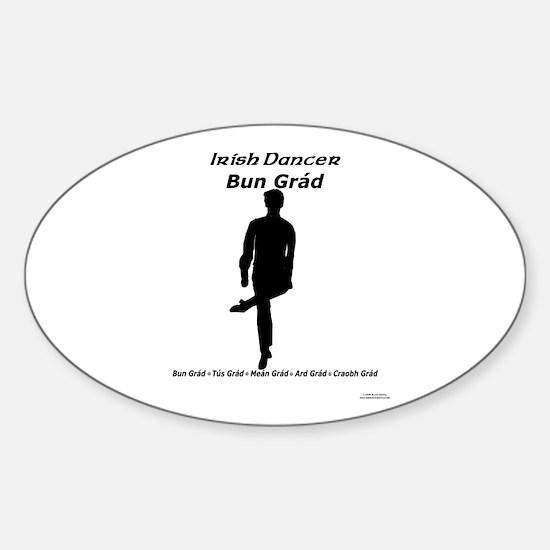 Boy Bun Grád - Oval Decal